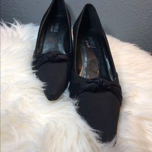 Vaneli di notte Black Satin Shoes